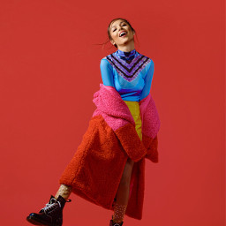 freetoedit oliviarodrigo red redaesthetic rainbow rainbowoutfit yellowskirt crocodileskin colorfuloutfit gorgeous fashiongirls fashion fashionable beautiful messybun favoritethree