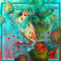 calendar calendario2021 maycalendar2021 calendariomaio2021 sereia marmaid fishs colors neoncolors coresneon magia magic funtodomar freetoedit srcmaycalendar2021
