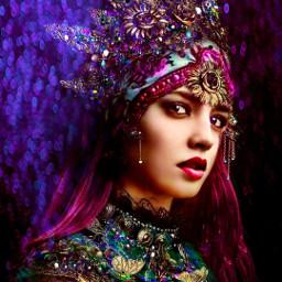 myoriginalwork originalart conceptart womanportrait colorful avantgarde fantasyart mystique ethereal mysterious magenta