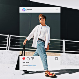model fashion ファッション インフルエンサー sns picsart picsartjapan