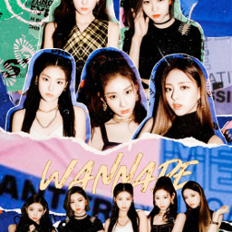 itzy midzy wannabe yuna yeji chaeryeong ryujin lia kpop myedit korean bestsong paper complex colors celeb green blue dance group itzme album cover albumcover