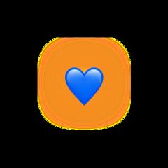blue heart shadow yellow emoji iphoneemoji iphone iphonestickers crow heartcrown aecthetic blueaesthetic yellowaesthetic freetoedit