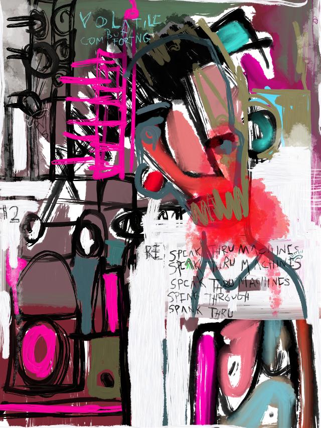 """Bert And Ernie v. Social Media"" #art #artist #abstract #sonnythesaint #sonnyleel #neoexpressionism #digitalpainting #painting #modernart #contemporaryartist #contemporaryart #grafittiart #outsiderart #brutart"