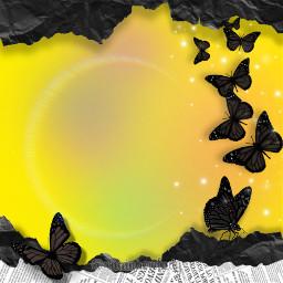 background backgrounds rainbowlight rainbow star glitter butterfly paper wallpaper wallpapers yellow cute kawaii aesthetic freetoedit