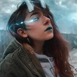picsart interesting art horns anime surreal digitalart