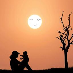 mothersday silhouette sun shine madewithpicsart myedit picsartedit picsoftheday playing remixit freetoedit