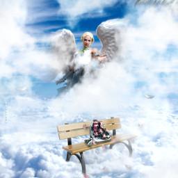 mothersday angel sky missyou mother love heypicsart madewithpicsart manipulation fantasy creative inspiration colochis89 freetoedit