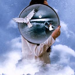 surrealism surreal clouds editedbyme editedwithpicsart freetoedit ircgirlwithamirror girlwithamirror