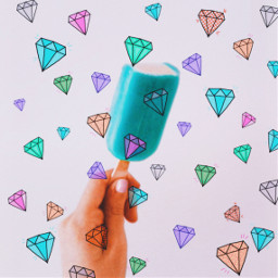 icecream diamonds courful pink blue green srcshinycrystals shinycrystals freetoedit