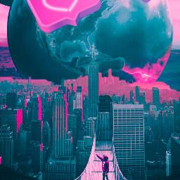 replay remixed surrealism sky earth cyborgeffect freetoedit