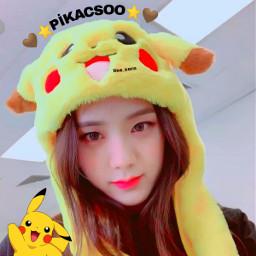 pikacsoo pikachu jisoo freetoedit