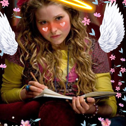 lavenderbrown angel ripangel rip flowers girl harrypotterfandom freetoedit