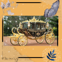 butterfly nature carriage newsprints freetoedit