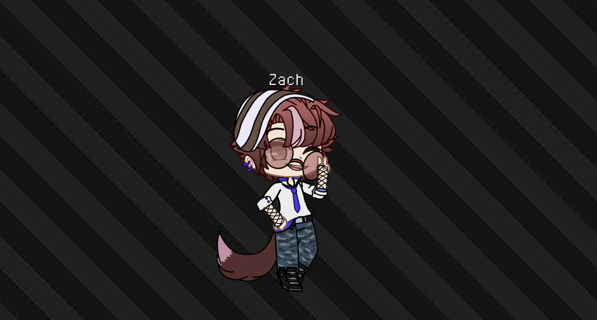 Anyone wanna rp with him? Read desc for info     ~ Z A C H ~    • Age - 17   • Pronouns - He/Him   • Bottom/Top - Top   • sibblings - 2 older sisters one 23 and other 25   • favriot color - purple   •Sexuality - Pansexual ~ A S K. F O R. M O R E. I N F O ~  #GachaRp