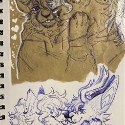 sketch fursona furry