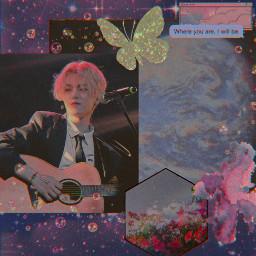 hajoon hajoontherose therose redtherose pink sunset moon freetoedit