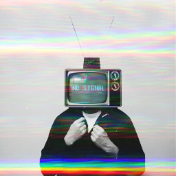 glitch tv television rainbow light surreal edit myedit freetoedit