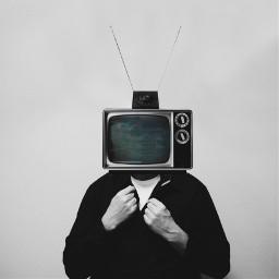 freetoedit remixit tv glitch people photography