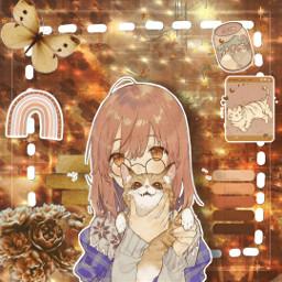 brown brownaesthetic brownedit aestheticedit calm calmvibes calmaesthetic cat anime animegirl animestyle manga mangagirl mangastyle freetoedit
