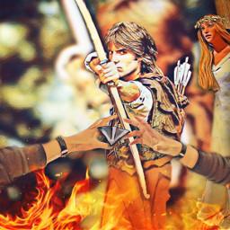 ircreachinghands reachinghands freetoedit robin robinhood archer arrows maiden maidmarian