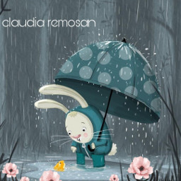 doodlearcoiris raimbowdoodles fantasy fantasia desenho rabbit coelho fofo cute cartoon chuva guardachuva rain umbrella freetoedit rcdoodlerainbows doodlerainbows
