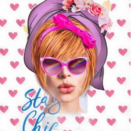 modernarteditingchallenge staychic sunglasses headband hearts headwrap roses ecmodernart modernart freetoedit