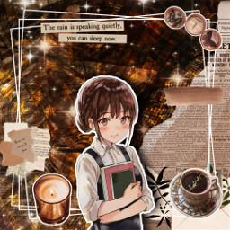 brown brownedit brownaesthetic darkacademia darkacademy darkacademiaaesthetic darkacademiaedit darkacamic animegirl animegirledit animestyle animeaesthetic freetoedit