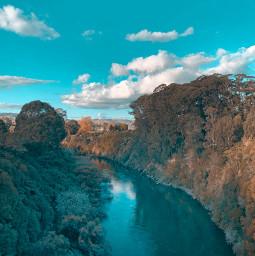 freetoedit river trees sky beautiful summer iphonephotography