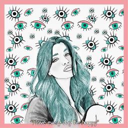 behappyeveryday behappy eyes girl pink blue srceyesbackground eyesbackground freetoedit
