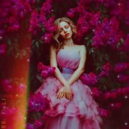 freetoedit picsart girl girls flowres flower pink purple pinkflowers pinkflower purpleflowers purpleflower replay5