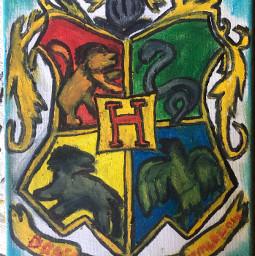 hogwarts oilpastels
