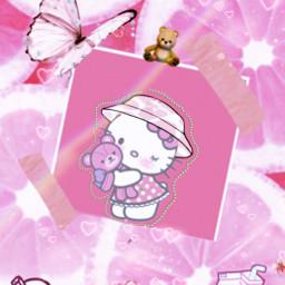 kawaii kawaiiaesthetic buckethat hellokitty bear kitty amongus butterfly butterflies pink cute freetoedit