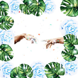 flower leaves stars hands freetoedit
