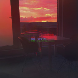 aesthetic aestheticedit red sunset cloudysky lonlyness freetoedit