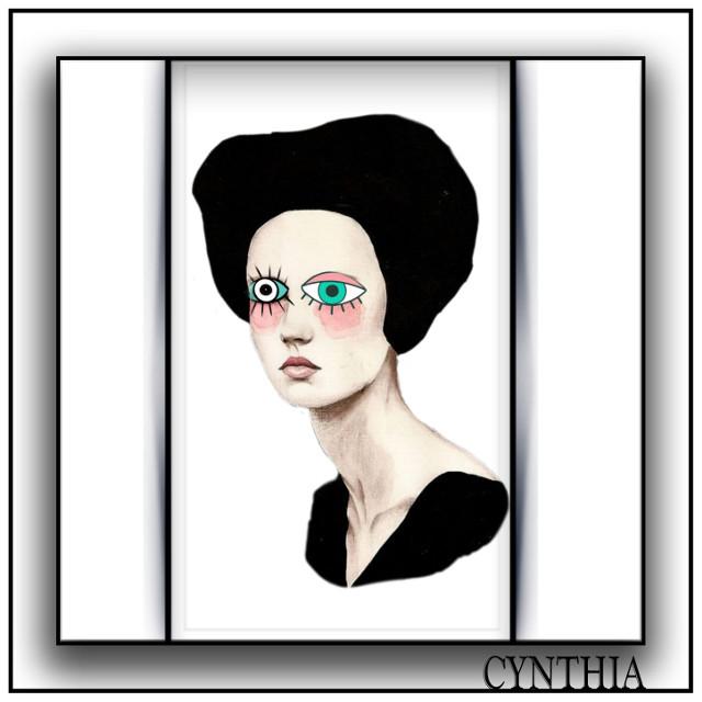 #eyes #modern # abstract #art #lady #editbyme @PicsArt