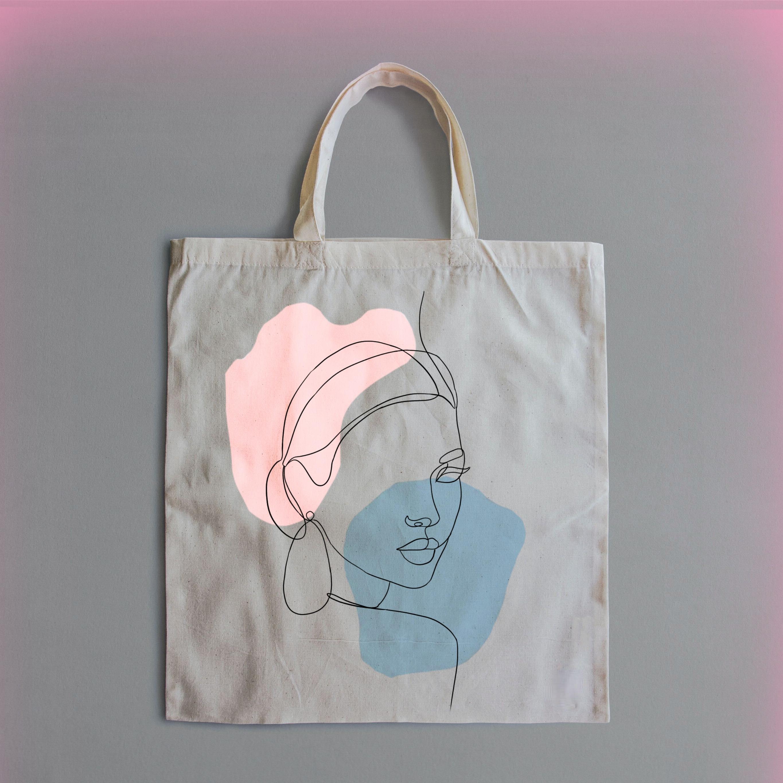 #freetoedit #pink #bag #totebag #designer #onelinedraw