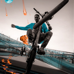 london freetoedit replay remix photography art edit moon fire picsart