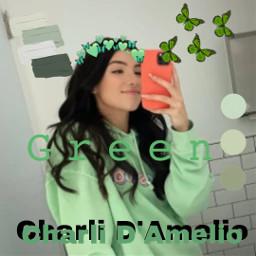 green charlidamelio charlifandom freetoedit
