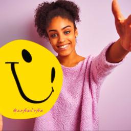 freetoedit positive happy girl smile