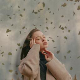 aesthetic pantone aesthetictumblr grey brown wheat girl woman autumn winter cold clouds fog leaves petals grunge vhs wind trees freetoedit unsplash