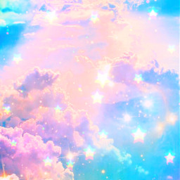 freetoedit glitter sparkle galaxy sky stars clouds glitch pastel shimmer colorful rainbow prism cute girly kawaii aesthetic cosmos sunset overlay background wallpaper