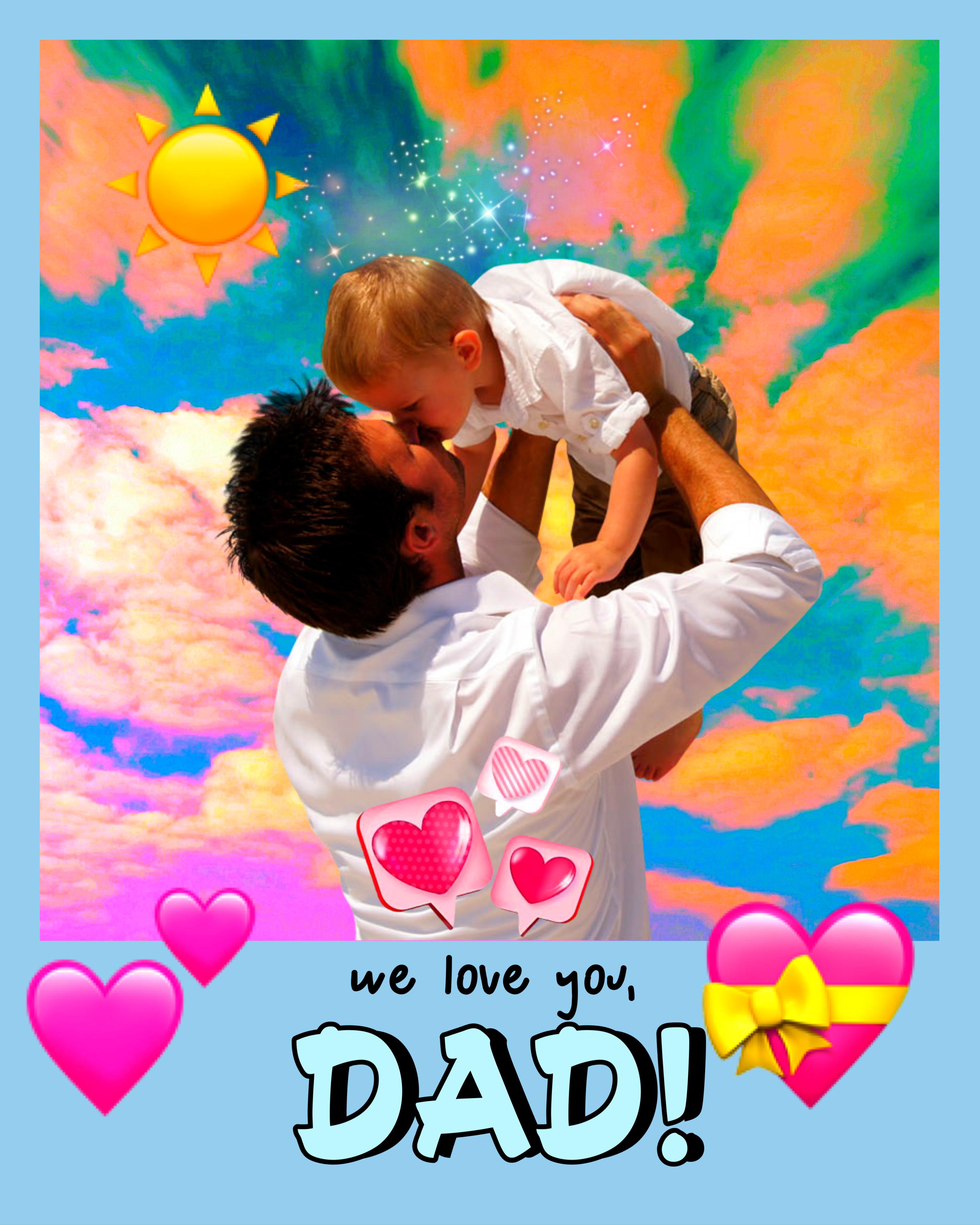 Father's Day #freetoedit #picsart #fathersday #remix