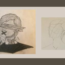 art drawing sketch blackandwhite og oringinal boy flowers leaves akshaya