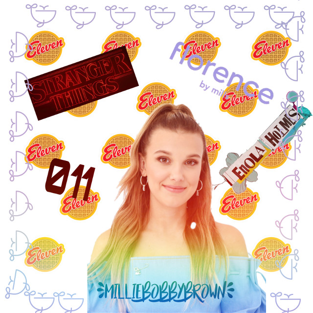 What a role model!! Keep up the good work @milliebbofficial #milliebobbybrown #awesome #cute #gorgeous #freetoedit