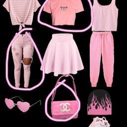pink outfit freetoedit