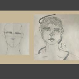art sketch drawing boy artist akshaya improvement