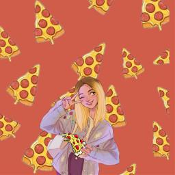 pizzagirl pizza red yummyfood fastfoodemojibackgrounds ecdreamstickersbackground dreamstickersbackground freetoedit