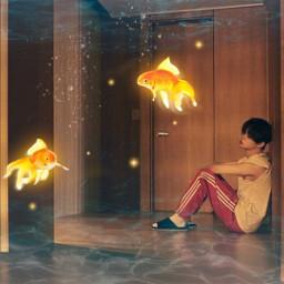 underwater yeonjun txt freetoedit srcgoldenfish goldenfish