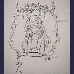 bringbackremixchat saveremixchat stopforcingkidstoremix drawing sketch devilhorns girldrawing
