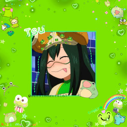 freetoedit mha frogs tsu
